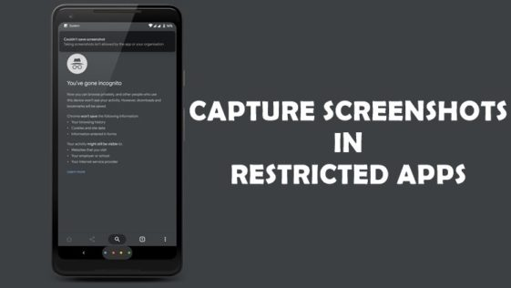 Take a Screenshot in Android Bypassing Restriction